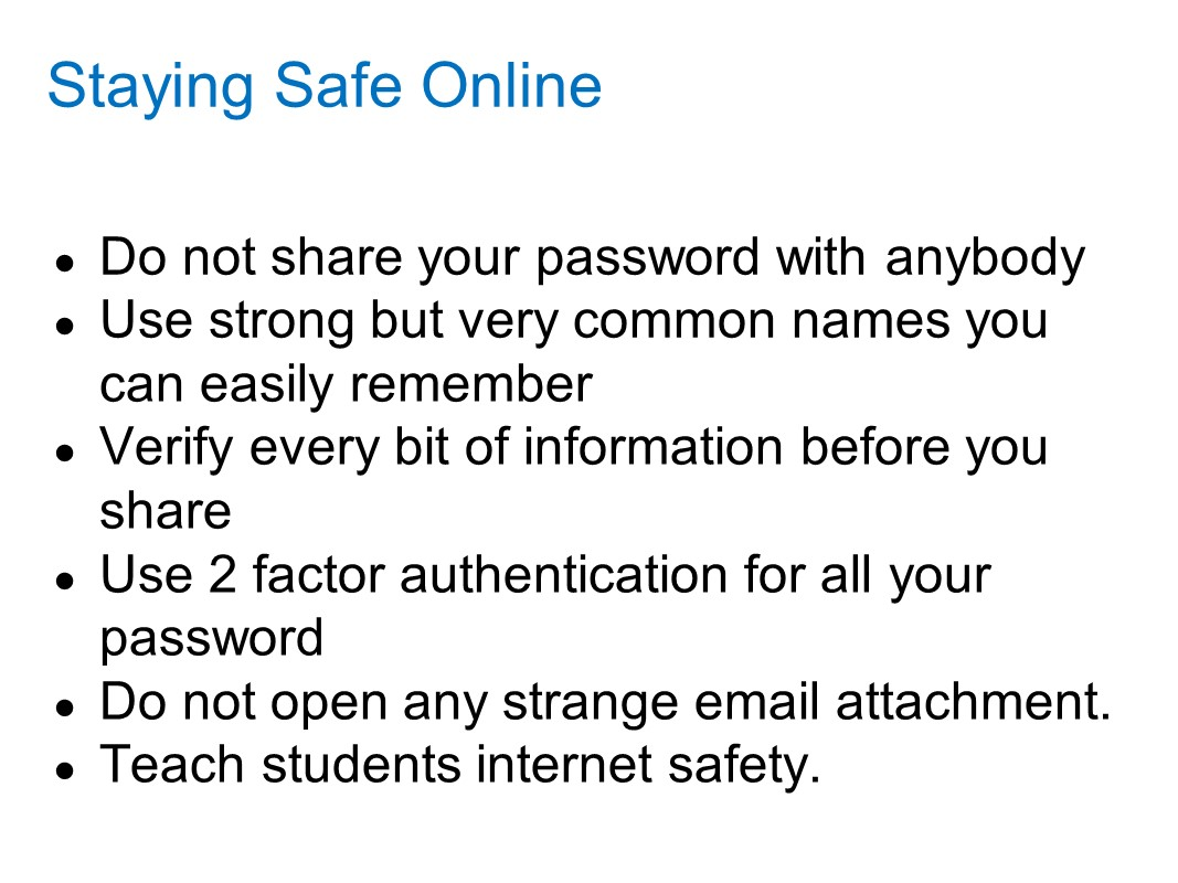 Introduction to internet literacy and safety