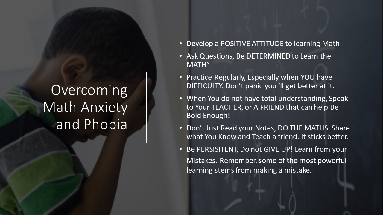 Overcoming Maths phobia
