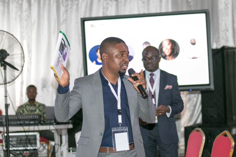 Project coordinator, Skool media contributing to a session at the event