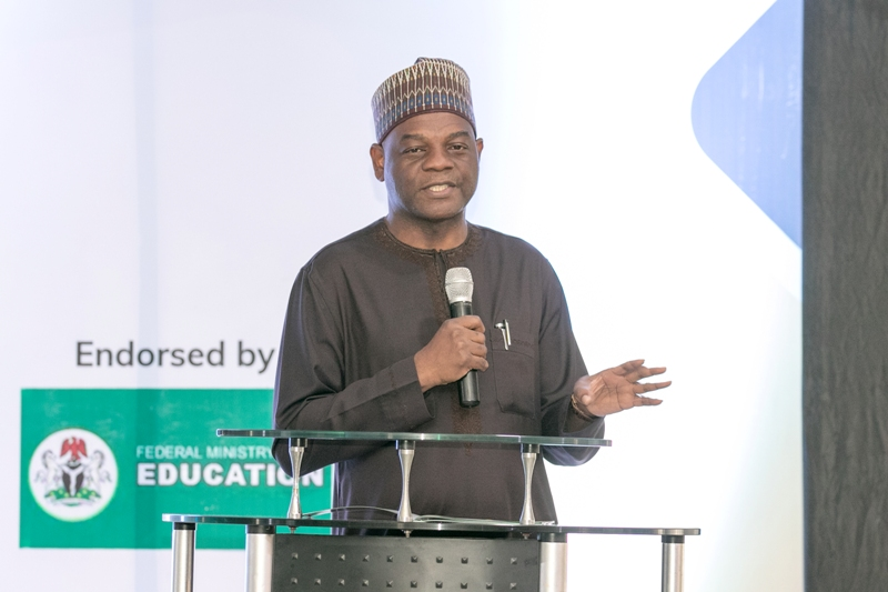 The permanent secretary, ministry of Education at teh African Edutech Conference 2019