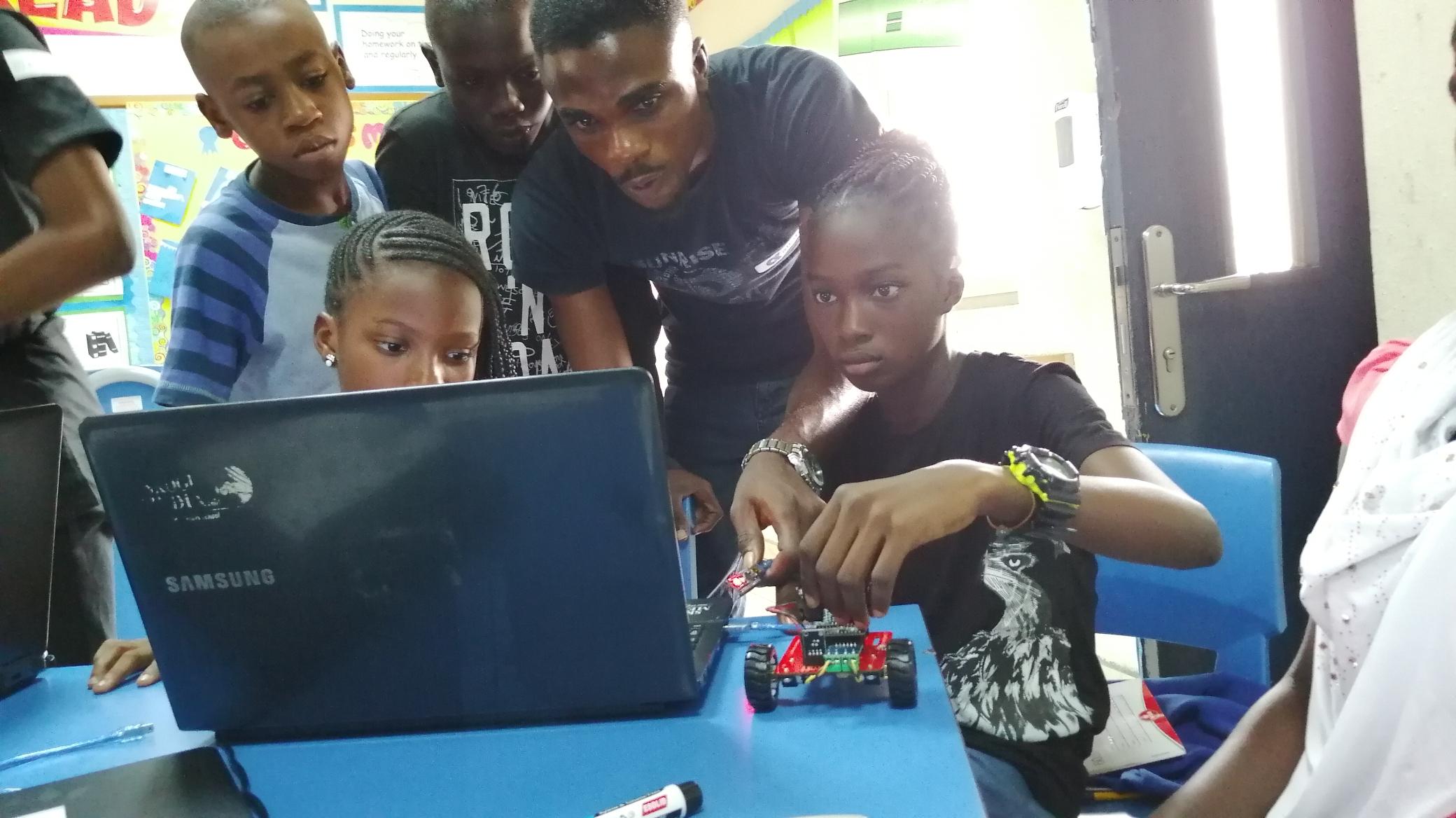 Robotics training at codefunky 2019