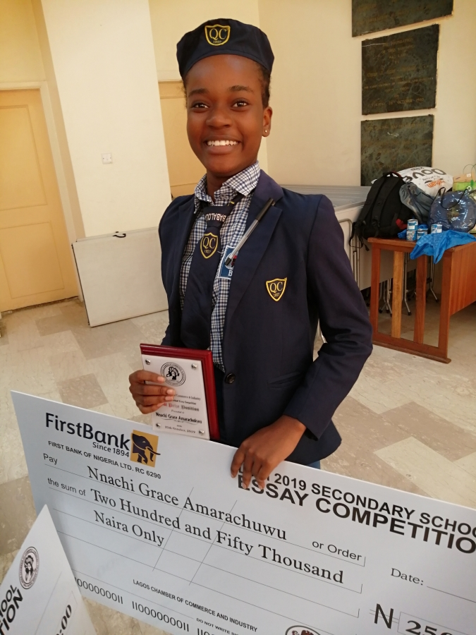 Queens College Student wins LCCI 2019 essay competition